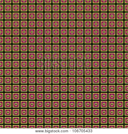Tileable orange red black geometric pattern in op art style