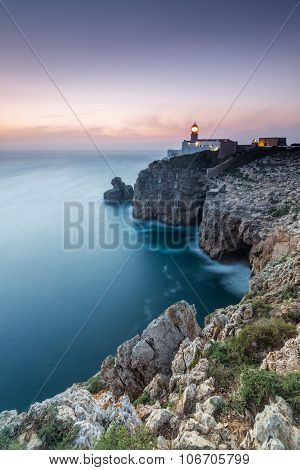 Dusk in Cape St. Vincent, Sagres, Algarve, Portugal
