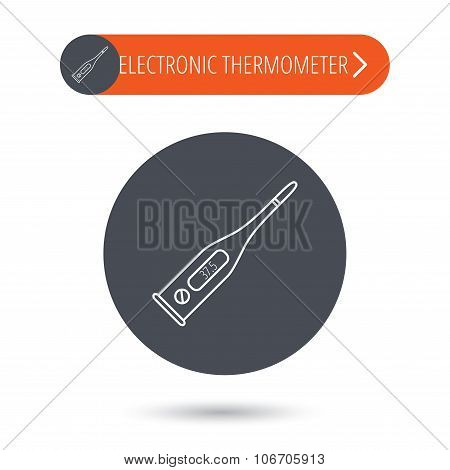Electronic thermometer icon. Measurement tool.