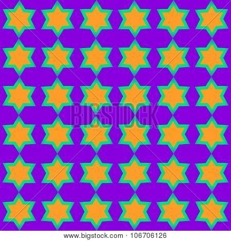 Tileable yellow green purple starlit pattern