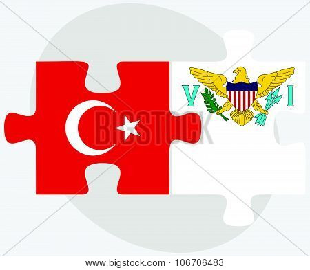 Turkey And Virgin Islands (u.s.) Flags