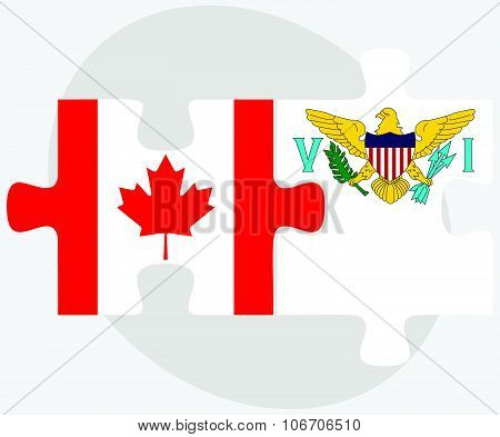 Canada And Virgin Islands (u.s.) Flags