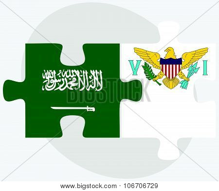 Saudi Arabia And Virgin Islands (u.s.) Flags