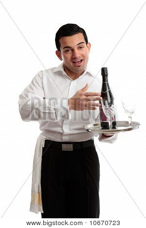 Jovial Waiter Or Bartender