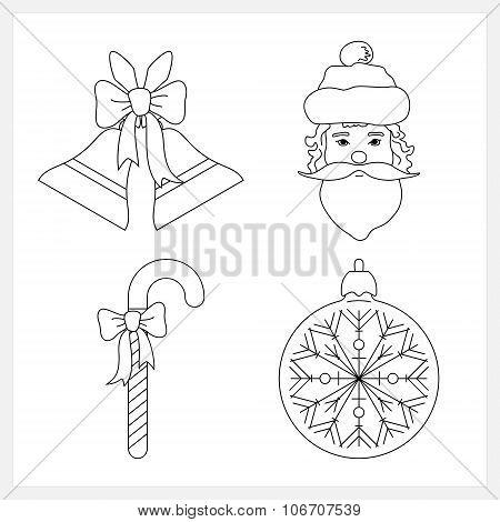 Set of Christmas Icons,Christmas Decoration