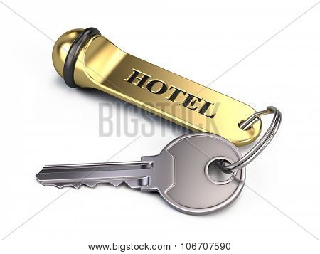 Hotel key Isolated On White
