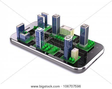 city application, navigation concept
