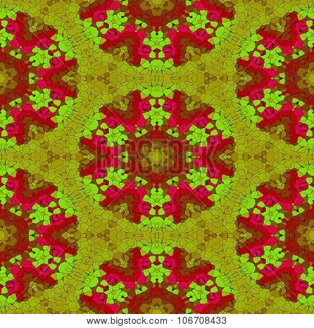 Abstract decorative fractal kaleidoscope pattern