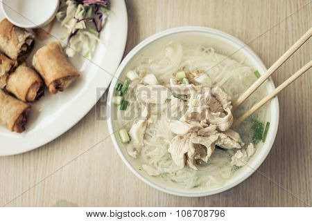 Traditional Thai Noodle Soup