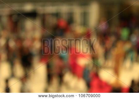Indistinct Image Of Croud Of People