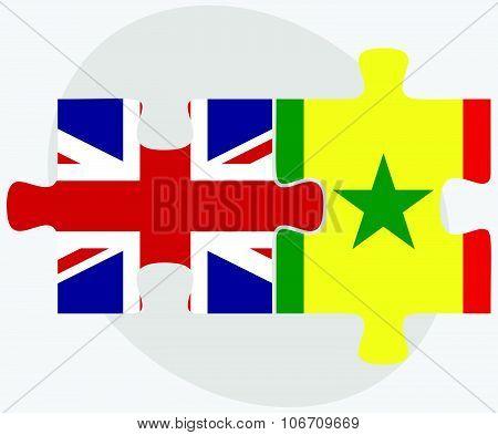 United Kingdom And Senegal Flags