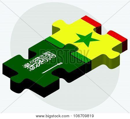 Saudi Arabia And Senegal Flags
