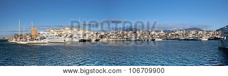 Panorama Of Puerto Banus Marina, Spain