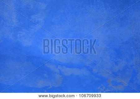 Texture Of Blue Shabby Paint Plaster Stucco Background