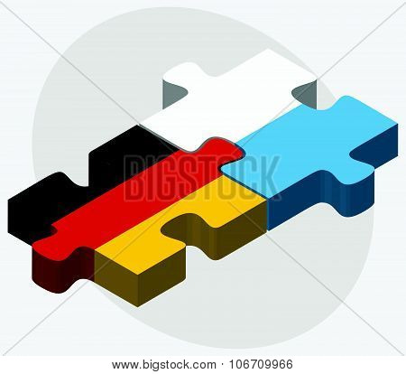 Germany And San Marino Flags