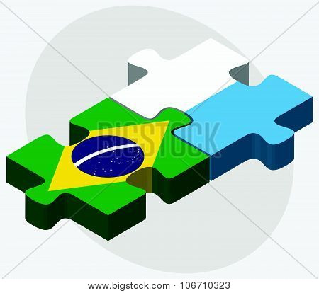 Brazil And San Marino Flags