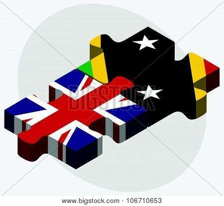 United Kingdom And Saint Kitts And Nevis Flags