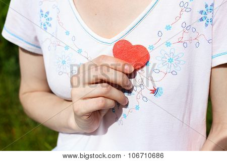 Heart Symbol Near The Heart
