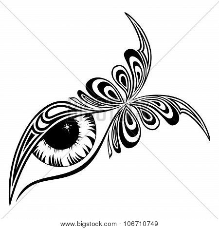 Human Eye With Butterfly Pattern