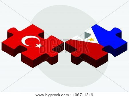 Turkey And Philippines Flags
