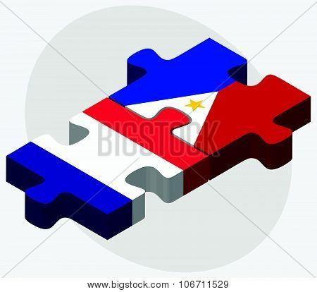 France And Philippines Flags