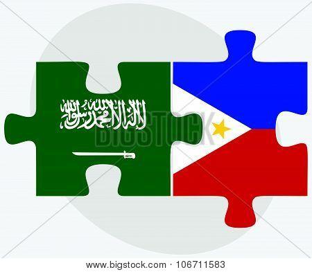 Saudi Arabia And Philippines Flags