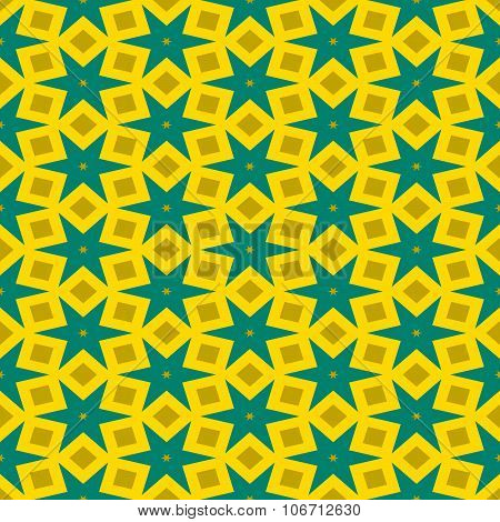 Abstract floral decorative seamless digitally rendered pattern
