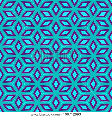 Abstract blue purple decorative seamless pattern