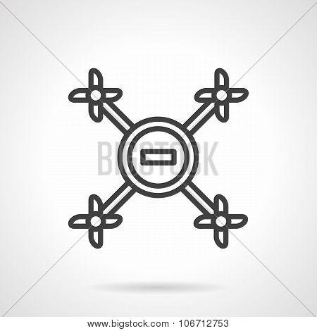 Simple line drone vector icon