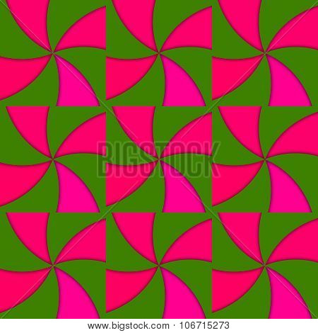 Red green vane regular tileable abstract pattern