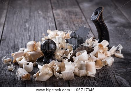 Planer And Sawdust