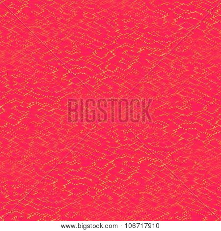 Abstract red geometric decorative tile