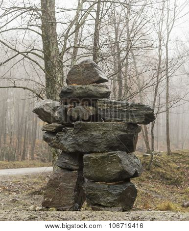 A large Inukshuk
