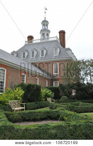 The Governors Palace Building in Colonial Williamsburg, Virginia