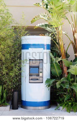 The image of street  cash dispenser