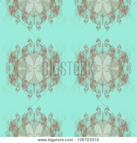 Abstract geometric silver blue decorative pattern