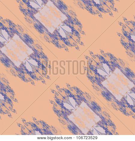 Purple orange decorative pattern