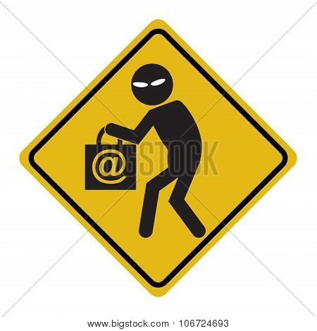 Hacker, Internet Security Concept. Thief Symbol