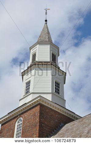 Bruton Parish Church in Colonial Williamsburg, Virginia