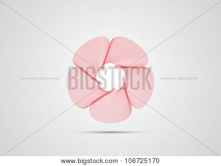 Dynamic Graphic Flower Design template