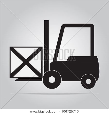 Forklift Symbol Vector Illustration