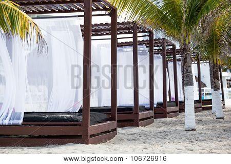 Modern Wooden Beach Gazebo Pavilion