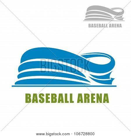 Blue round baseball stadium icon