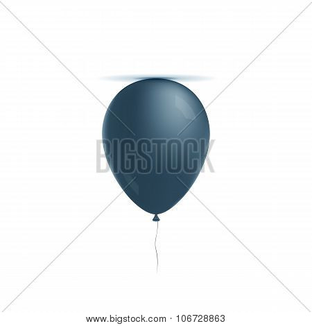 Realistic helium blue Balloon