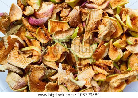 Background Of Dried Sliced Apples.
