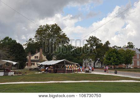 Market Square in Colonial Williamsburg, Virginia