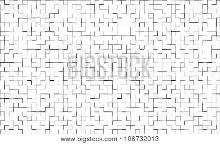 Abstract white background with tile tile effect