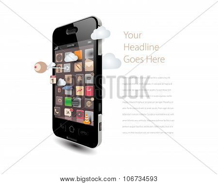 Smartphone with playful apps