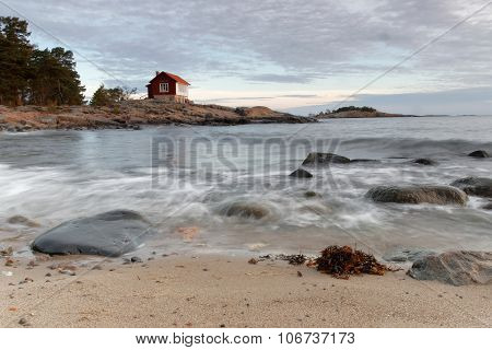 Archilelago And Cottage In Morning Light