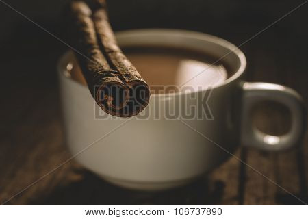 Masala tea with spices.